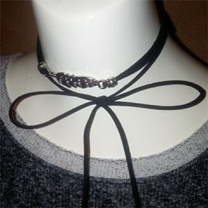 Jewelry - Feather Suede Lariat Choker
